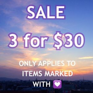 💟 3 for $30 SALE 💟